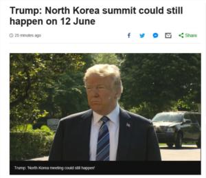 6月12日に予定されていた米朝首脳会談が中止、米朝両国の発表