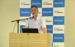 北朝鮮の和解と米朝の「終戦」について講演する中川雅彦海外調査員