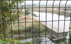鴨緑江・奥が北朝鮮領土