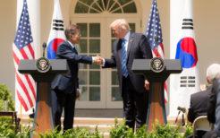 トランプ大統領と文在寅大統領