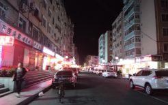 夜は寂しい中国丹東のコリアンタウン
