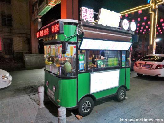 店内飲食禁止。北レスの北朝鮮人スタッフが闇配達?