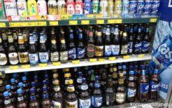 ソウル・スーパーのビール売り場
