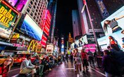 米ニューヨーク・タイムズスクエア