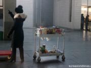 北朝鮮国境の新義州駅で機械での荷物検査が始まる