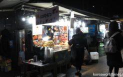 韓国ソウルの屋台