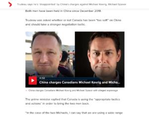 拘束から1年半。カナダ人2人をスパイ罪で起訴