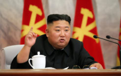 党中央軍事委拡大会議に出席した金正恩委員長