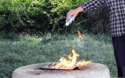 ハマグリのガソリン焼き