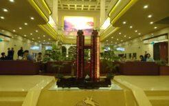 修復された高麗ホテル模型