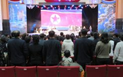 北朝鮮。平壌の劇場
