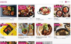 「フードパンダ」の韓国料理のページ。星の評価は和食とあまり変わらず、タイ人からの韓国料理人気は高いようだ
