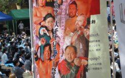 靖国神社奉納プロレスのぼり旗