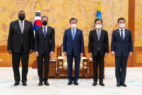 日米韓での協力を継続する共同声明も