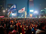 韓国ソウル市長選 20ポイント野党候補優勢 大統領選挙の前哨戦?