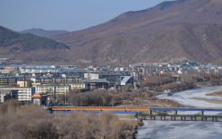 吉林省図們国境と図們江