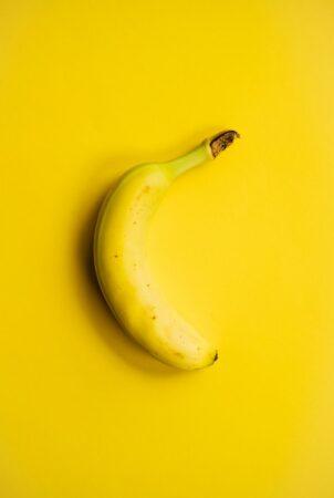 ガイドへの土産にバナナ