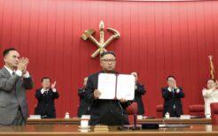 17日の党中央全員会議で「対決と対話」の方針を示した金正恩総書記