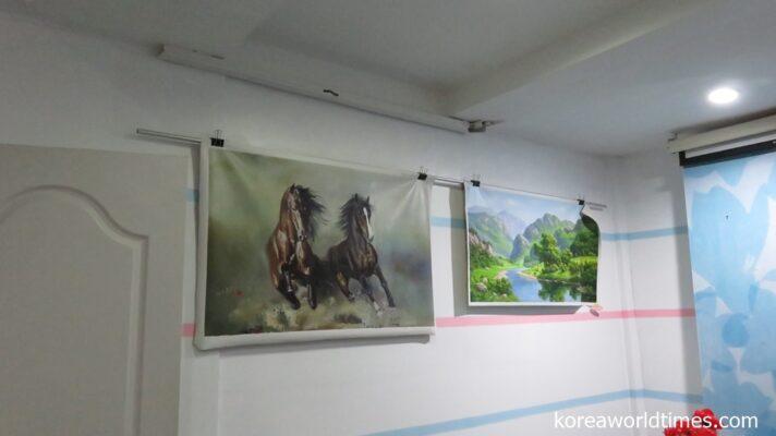 奥にひっそりと眠る北朝鮮絵画