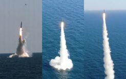 韓国が発射実験を行った潜水艦発射弾道ミサイル(SLBM)