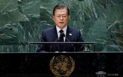 国連総会演説で朝鮮戦争の終戦宣言を訴える文在寅大統領