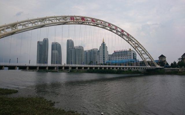 北朝鮮にもっとも近いホテル その2 鴨緑江の中洲の9割は北朝鮮領