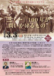 3.1独立運動100周年を記念してシンポジウム開催