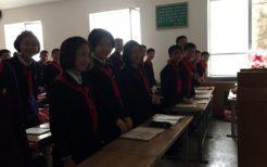 平壌市内の中学校