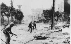 ソウルで戦う国連軍兵士